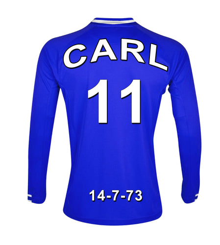 Chelsea blue and white  personalised football shirt canvas