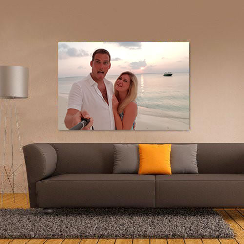 Valentine's Photo Upload Landscape Canvas