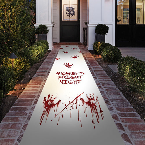 Gruesome Halloween Party Floor Runner Decoration - Personalised