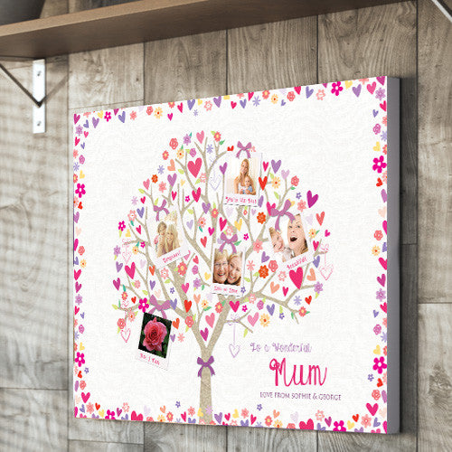 Mother's Day Canvas gift images heart