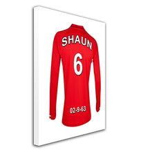 Liverpool Football Club red personalised football shirt canvas