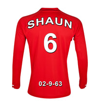 Load image into Gallery viewer, Liverpool Football Club red personalised football shirt canvas