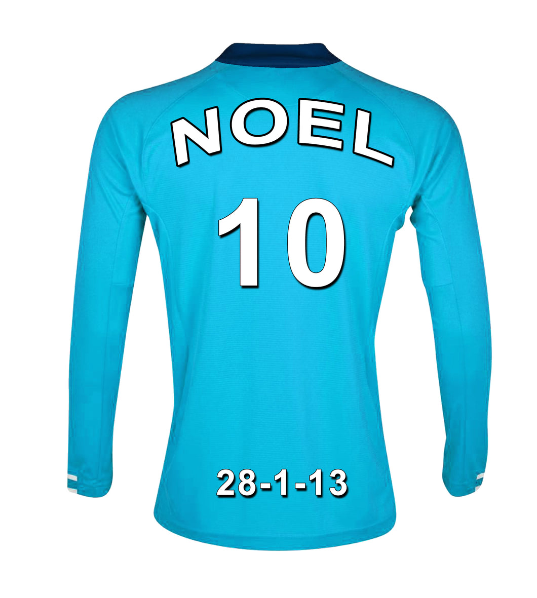 Manchester City Football Club blue personalised football shirt canvas