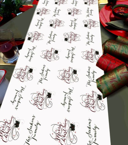 Personalised Christmas Table Runner merry Christmas table decoration