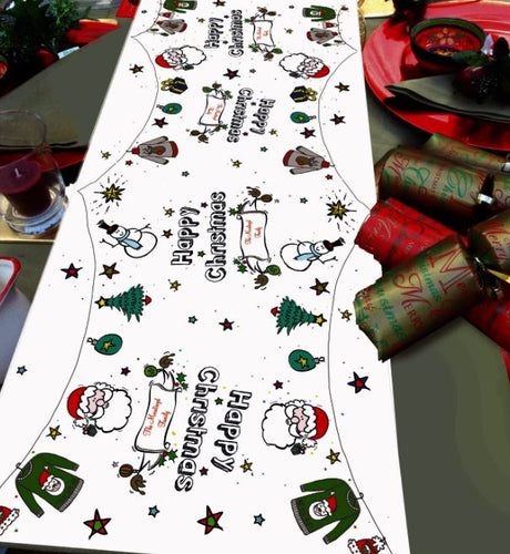 Christmas table runner santa fun personalised table decoration