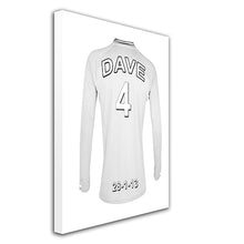 Tottenham Hotspurs Football Club  white personalised football shirt canvas