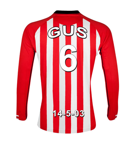 Sunderland Personalised Football Shirt Canvas