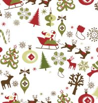Load image into Gallery viewer, christmas table runner Reds and Blues santa sleigh reindeer table decoration