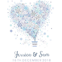 Beautiful snowflake heart design Personalised Wedding Aisle Runner