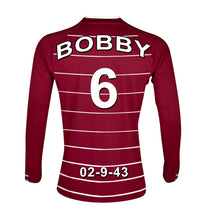 West Ham  claret and white personalised football shirt canvas