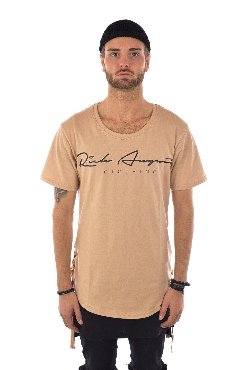 Rich Roped Tee - GOD TAN - RICH AUGUST CLOTHING