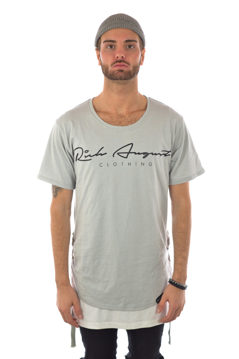 Rich Roped Tee - GOD GREY - RICH AUGUST CLOTHING