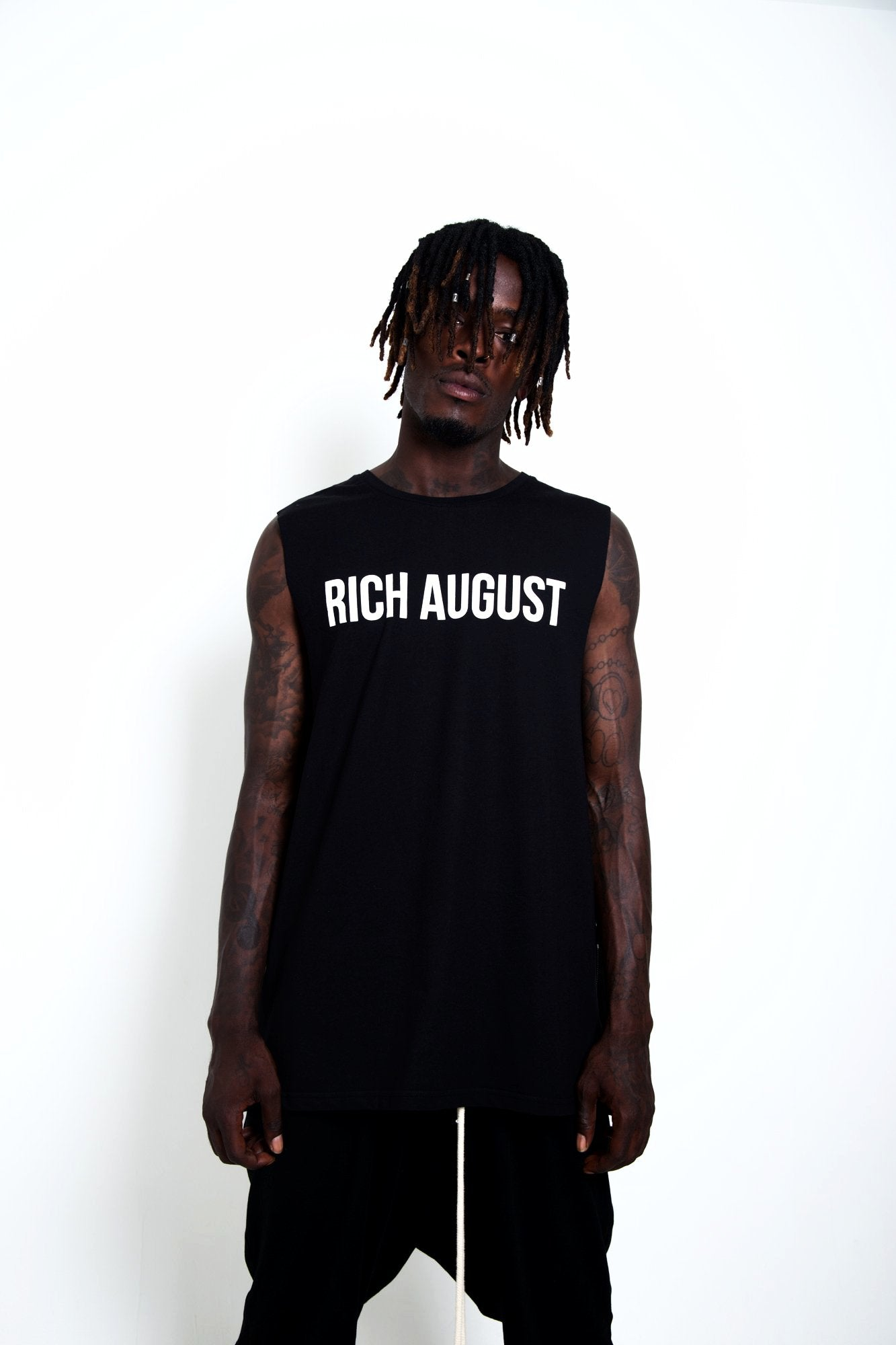 Rich August 2.0 Muscle Tee - Stone Black