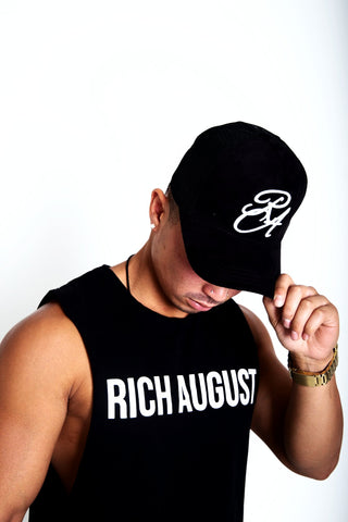 Rich August Clothing Royal Trucker Snapback - Stone Black Suede