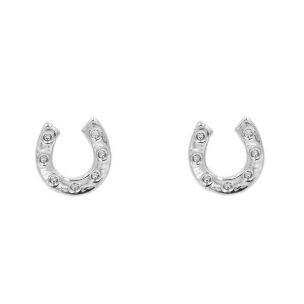 Horseshoe Stud Earrings - Cheval Equestrian
