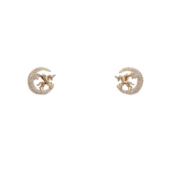 Moon Unicorn Earrings - Cheval Equestrian