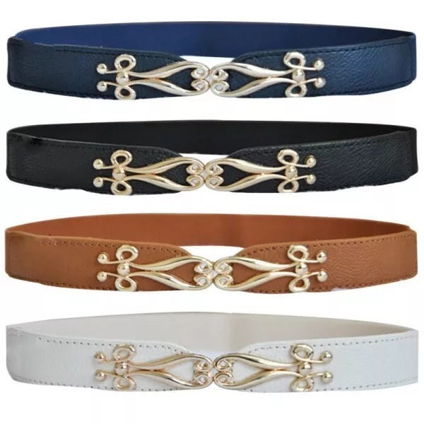 Gold Detail Scroll Belt - Cheval Equestrian