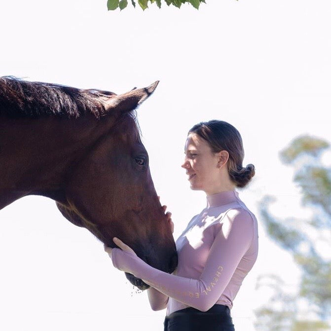 'HIGH KNOCKOUT' Stretch Compression High Neck Baselayer - Cheval Equestrian