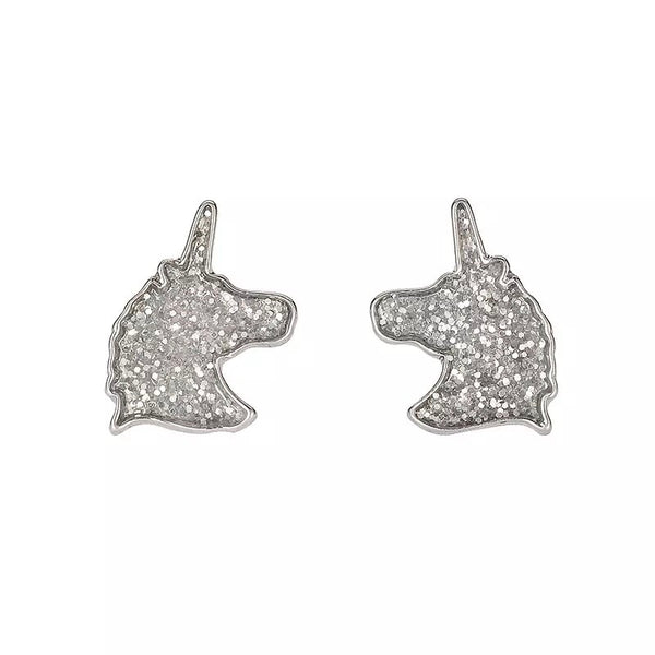 Glitter Unicorn Earrings - Cheval Equestrian