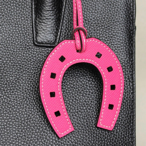 Leather Horseshoe Keyring - Cheval Equestrian