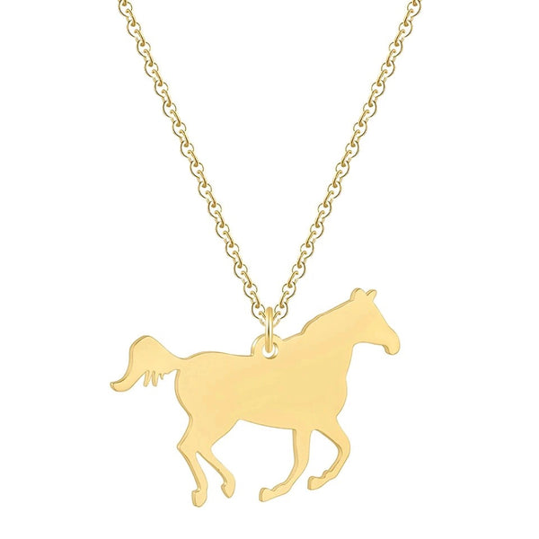 Running Horse Necklace - Cheval Equestrian
