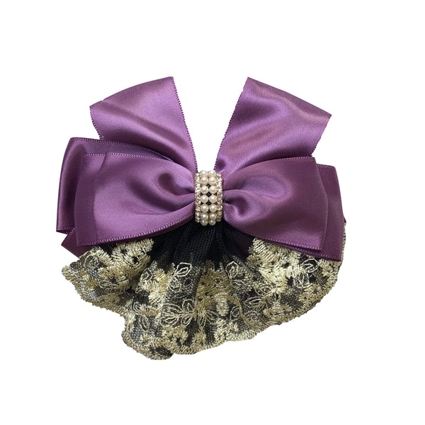 Lace Bow Bun Cover - Cheval Equestrian