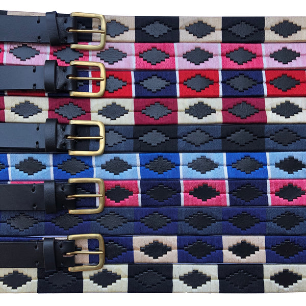 Diamond Pattern Polo Belt - Cheval Equestrian