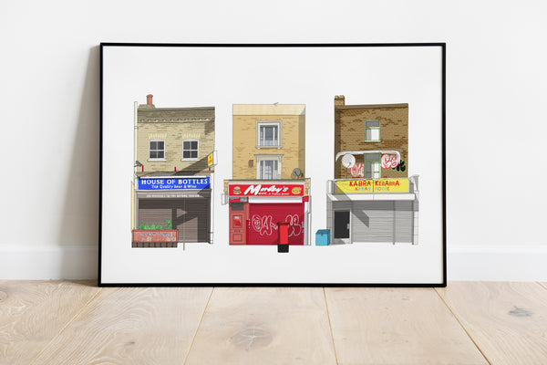 South London Shopfronts A3 Print