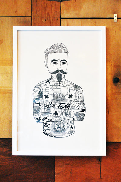 A2 Tattooed Man Print