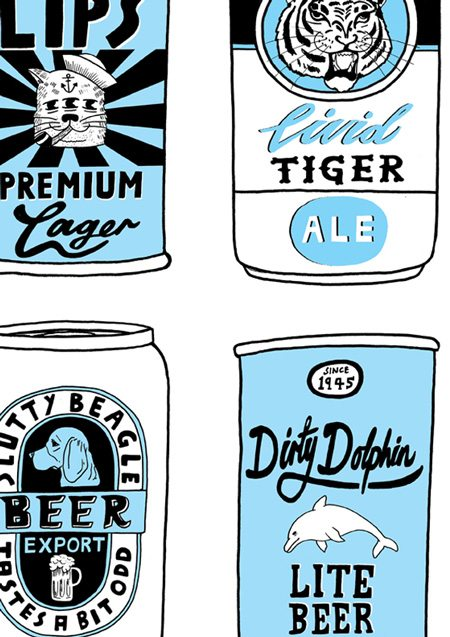 A3 Beer Can digital print
