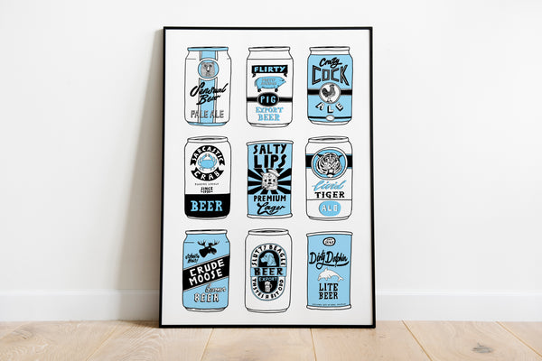 """Beer Cans"" Art Print"
