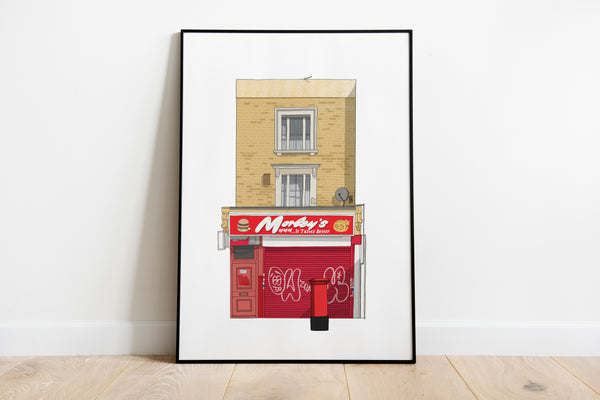 Chicken Shop A3 Print