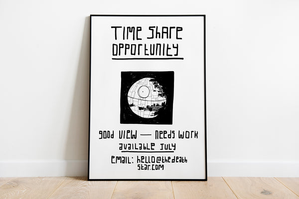 Death Star Timeshare Art Print