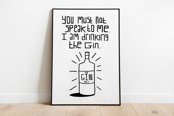 """Drinking The Gin"" Art Print"