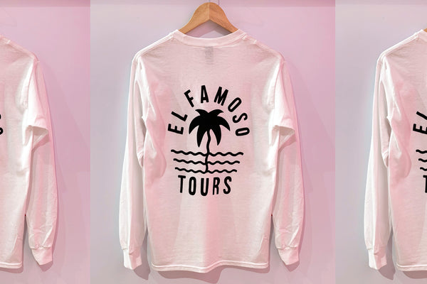 El Famoso Long Sleeve White Tee