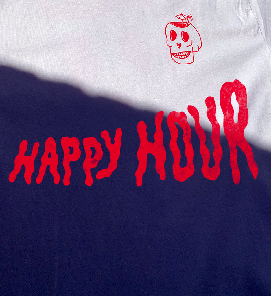 All new 'Happy Hour' Short Sleeve Tee Shirt