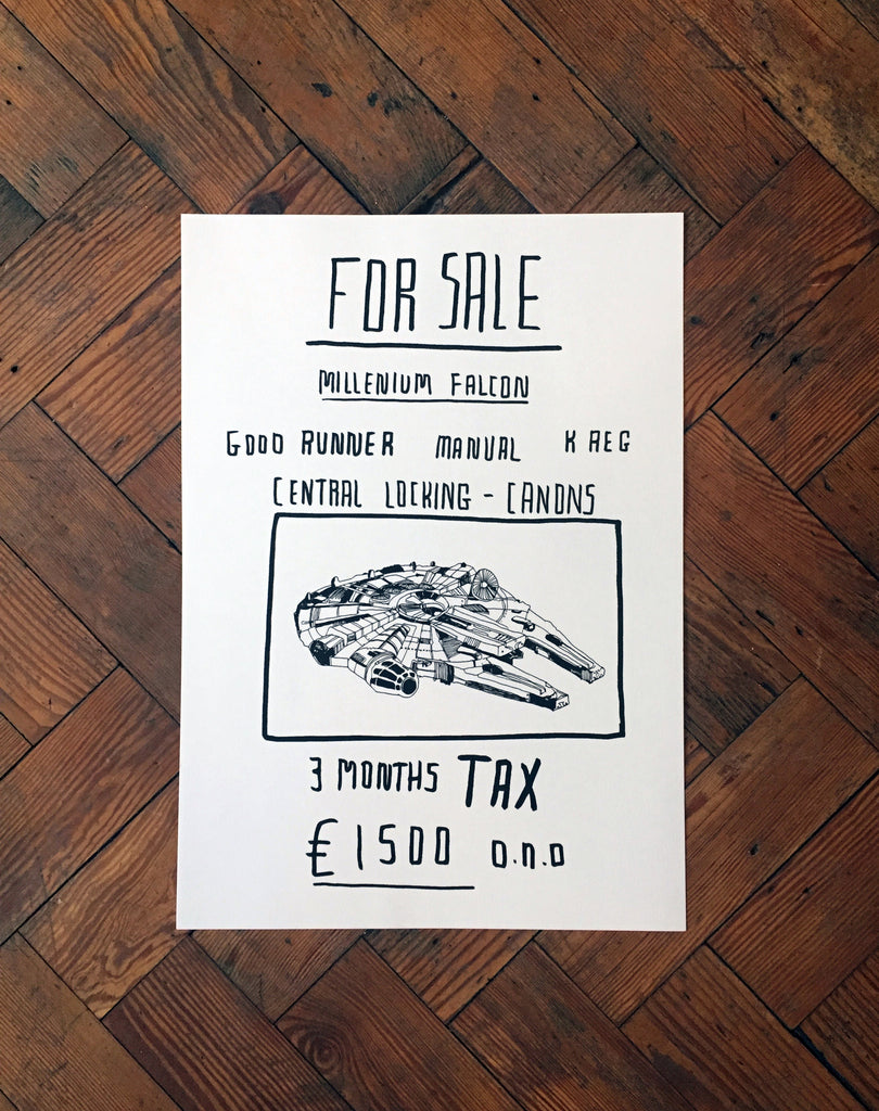 Millennium Falcon for Sale Art Print