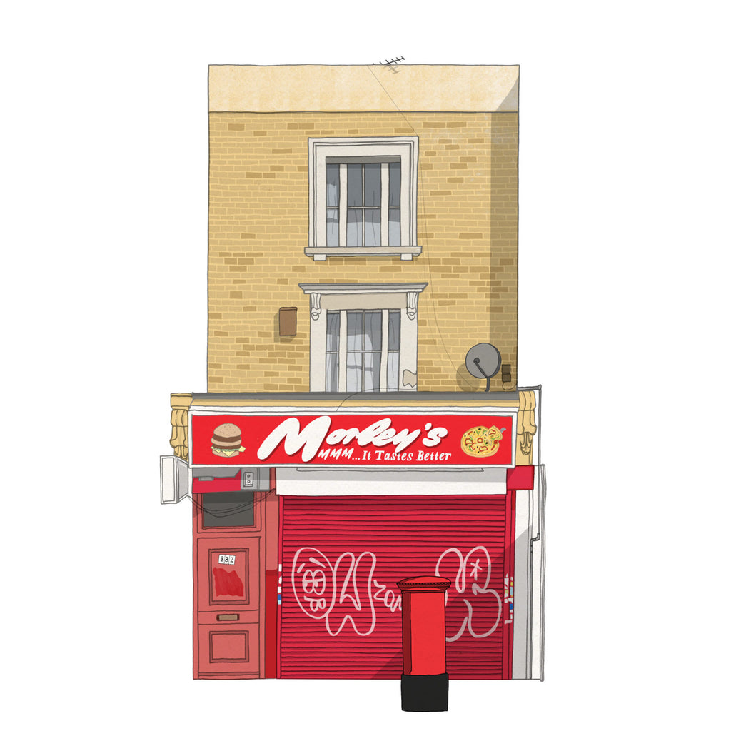 "''London Chicken Shop"" Art Print"