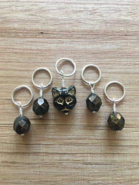 Voodoo Kitty Stitch Markers