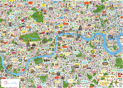 Illustrated Map of London (Limited Edition) - House of Cally