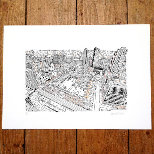 The Barbican, Copper Edition - Will Clarke (signed by the artist)