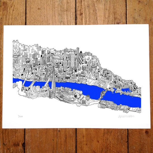 City of London - Will Clarke (signed by the artist)