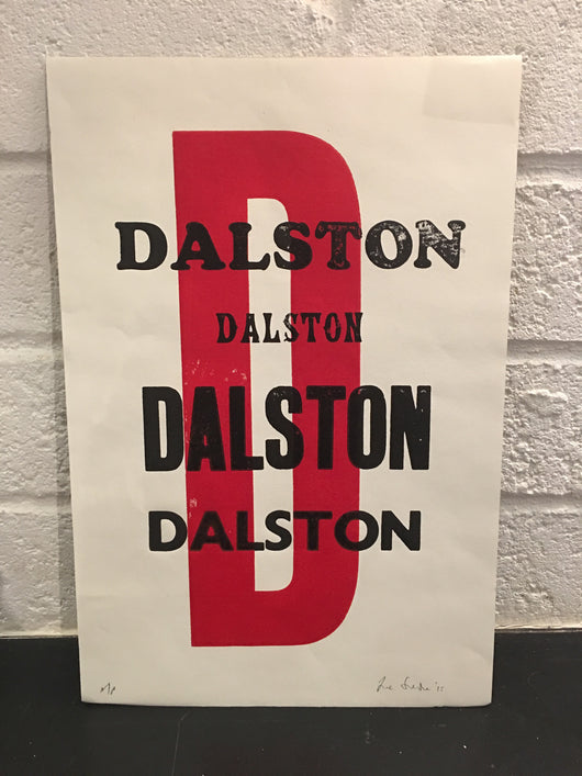 Dalston (letterpress)- Jane Smith