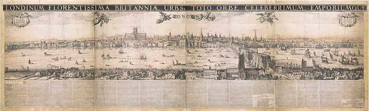 Visscher Classic with latin text(1616) Print