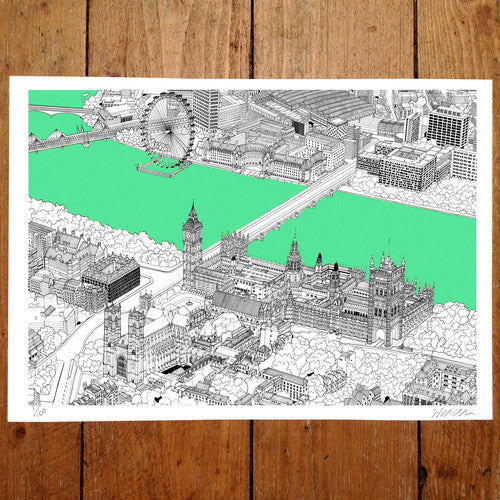 Westminster, Green - Will Clarke (signed by the artist)