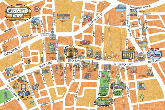 Brick Lane (Map)- Jane Smith