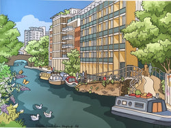 Regents Canal from Kingsland Road - Jane Smith