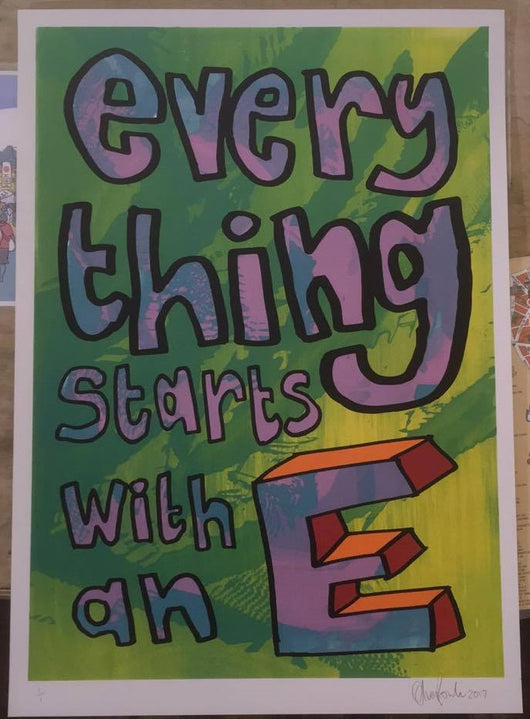 Everything Starts with an E (Green) - Oli Fowler (Signed by the artist)