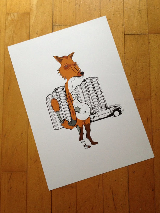 The Fox - Gus 'The Fox' (Signed by the Artist)