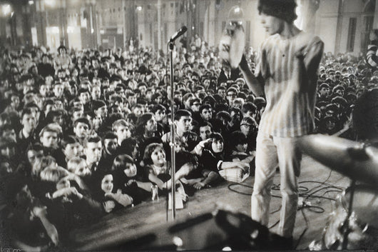 Mick Jagger at Allnighter, c.1964 at Alexandra Palace - John 'Hoppy' Hopkins (signed)